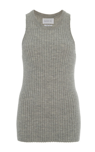 Medium eleven six light grey light grey mia rib knit tank