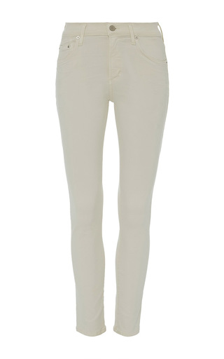 Medium citizens of humanity off white sculpt natural rocket skinny jeans