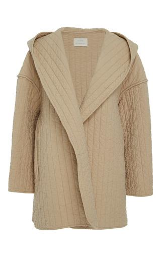 Medium lauren manoogian tan kendo hooded coat