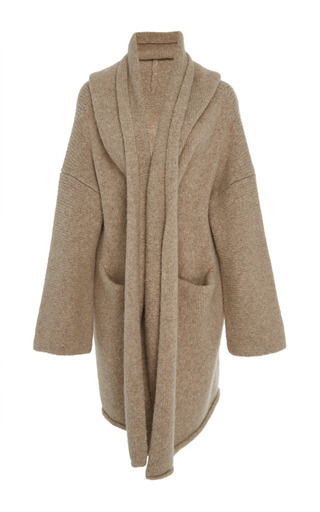 Medium lauren manoogian tan ecru capote knit coat