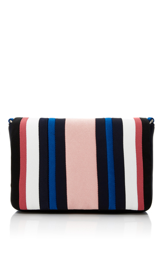 Medium paule ka pink striped shoulder bag 2