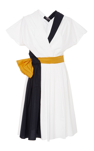 Medium paule ka multi colorblock cotton poplin dress with pockets
