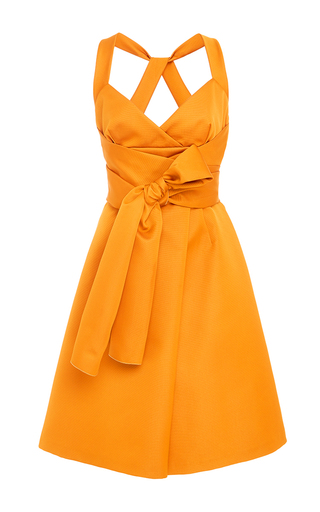 Medium paule ka gold sleeveless sweetheart dress with attached belt