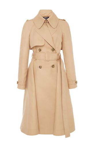 Medium paule ka tan cotton trench coat with self belt