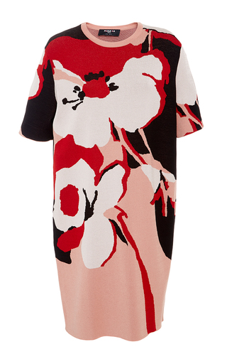 Medium paule ka print printed short sleeve jacquard viscose dress