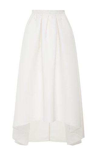 Medium paule ka white ottoman high low skirt with pockets 2