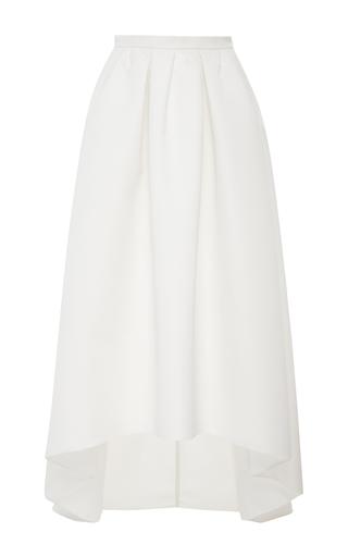 Medium paule ka white ottoman high low skirt with pockets 2