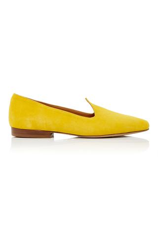 Medium le monde beryl yellow suede ballerina slippers