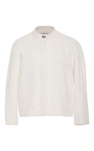 Medium cacharel  2 white quilted long sleeve jacket