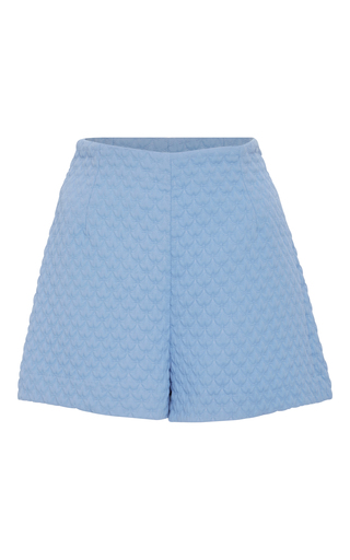 Medium cacharel  2 blue high waisted quilted shorts