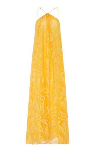 Medium cacharel  2 yellow embroidered silk and cotton blend maxi dress