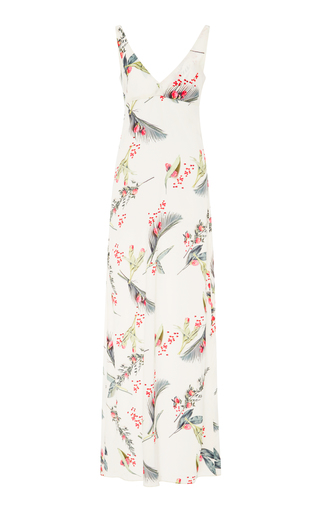 Medium cacharel  2 print printed silk maxi dress