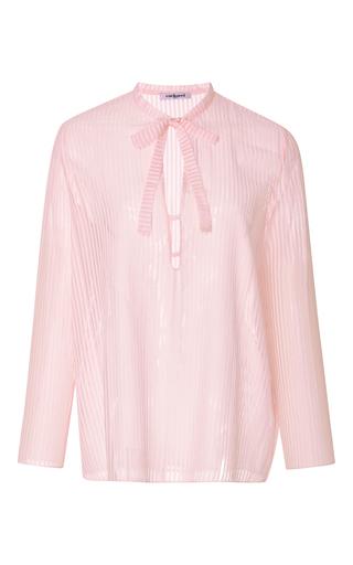 Medium cacharel  2 light pink striped cotton gauze blouse