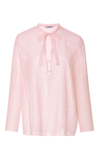 Medium cacharel  2 light pink striped cotton gauze blouse