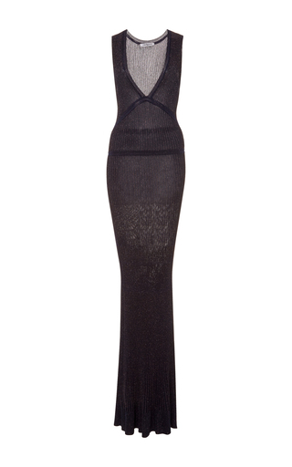 Medium cacharel  2 navy sleeveless knit maxi dress