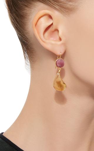 24 K Gold Plated Drop Earrings by LOULOU DE LA FALAISE Now Available on Moda Operandi
