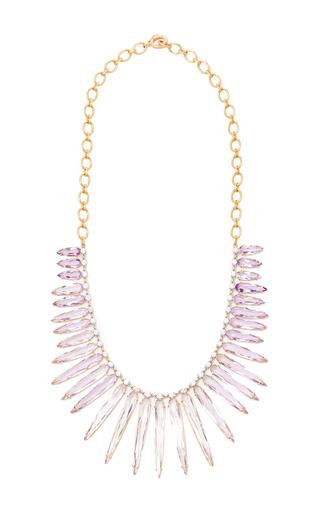 Medium irene neuwirth rose gold rose of france necklace