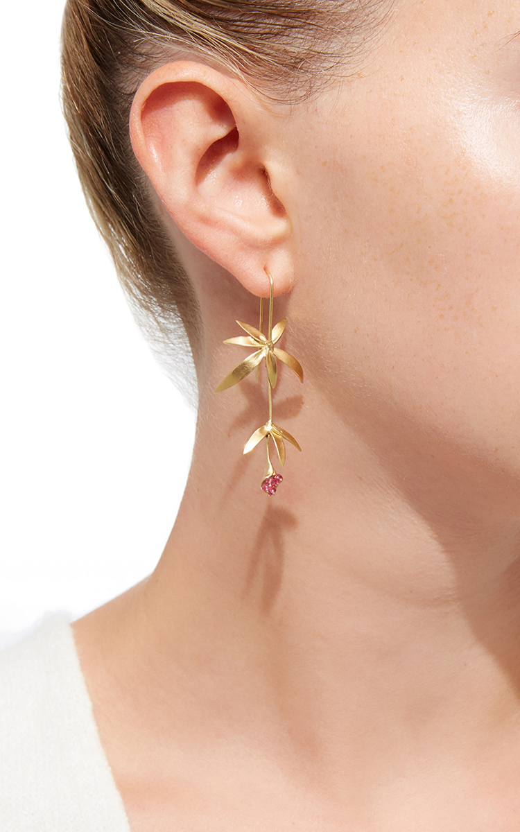 Wildflower Pink Spinel Earring Close Full Screen
