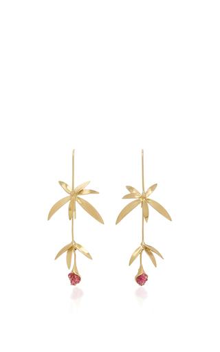 Medium annette ferdinandsen pink long wildflower pink spinel earring