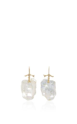 Medium annette ferdinandsen white pearl petal earring