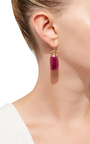 Coral Branches With Ruby Slices Earring by ANNETTE FERDINANDSEN Now Available on Moda Operandi