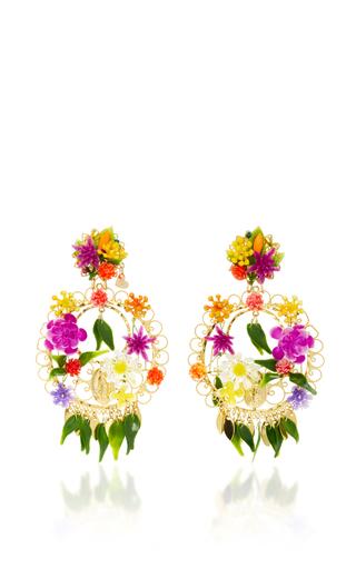 Medium mercedes salazar multi fiesta flower earrings 8