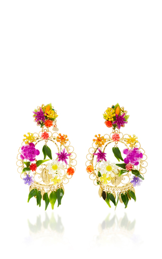 Medium mercedes salazar multi fiesta flower earrings 8