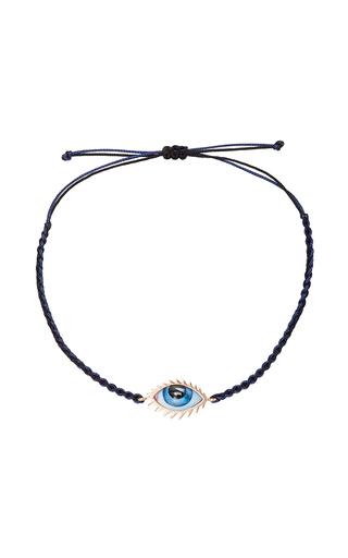 Medium lito blue lito 14k pink gold eye bracelet
