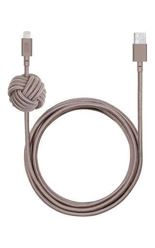 Medium native union light grey night charging cable