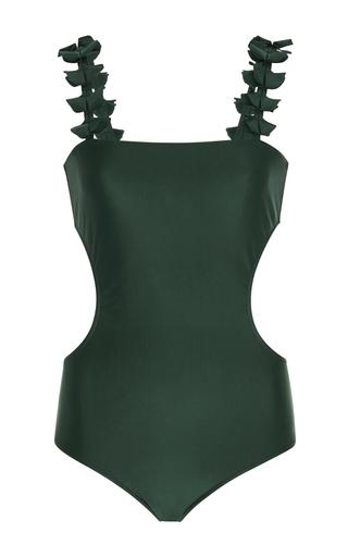 Medium adriana degreas green gino leaves cutout swimsuit