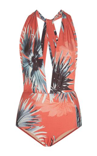 Medium adriana degreas pink floral high waist swimsuit