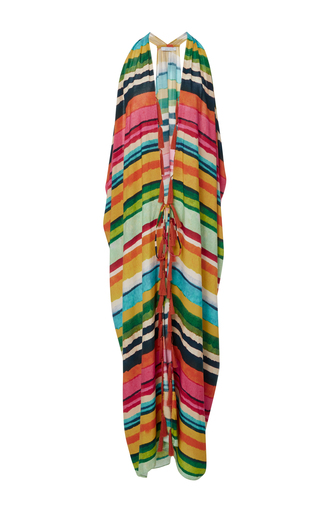 Medium lenny niemeyer stripe striped fringed cover up