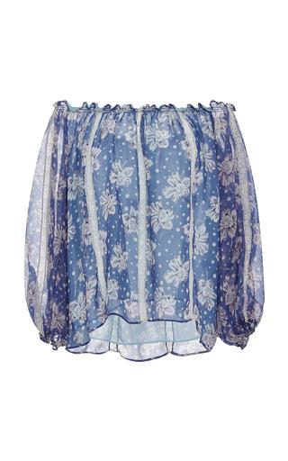 Medium luisa beccaria print chiffon printed peasant blouse