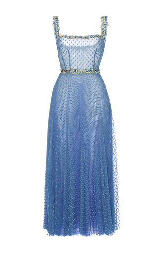 Medium luisa beccaria multi tulle pois plisse midi ballerina dress