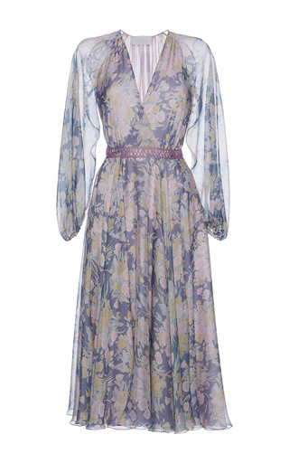 Medium luisa beccaria print chiffon printed carlarmaria dress