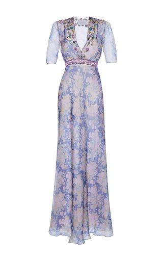 Medium luisa beccaria print organdy printed silk gown