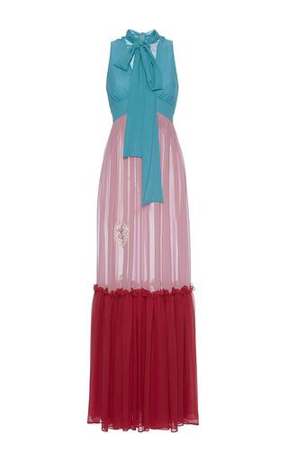 Medium luisa beccaria multi georgette tricolor dress