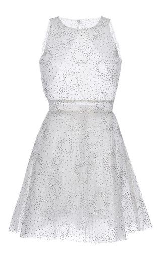 Medium luisa beccaria nude tulle lurex pois mini dress