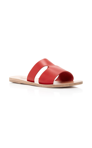 Medium ancient greek sandals red apteros sandals