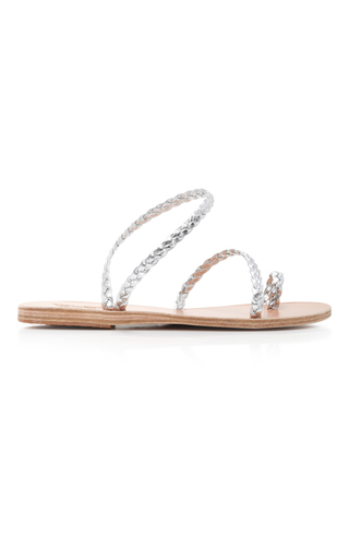 Medium ancient greek sandals silver eleftheria sandal