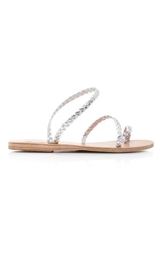 Medium ancient greek sandals silver eleftheria sandal