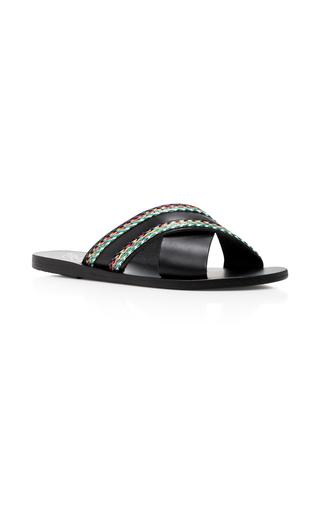 Medium ancient greek sandals black thais rafia sandals