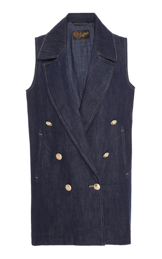 Medium seafarer blue double breasted vest