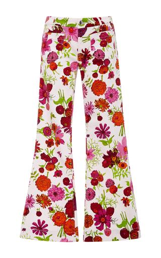 Medium seafarer floral penelope floral flare jeans