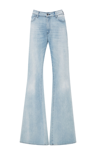 Medium seafarer light wash blase high rise flare jeans