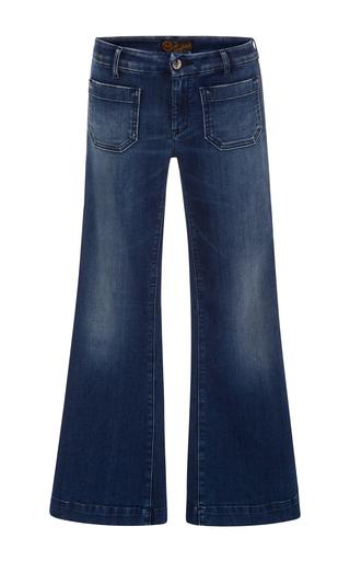 Medium seafarer dark wash penelope cropped flare jeans