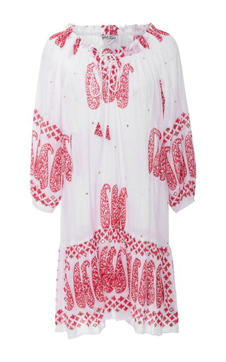 Medium juliet dunn white embroidered lace up mini dress
