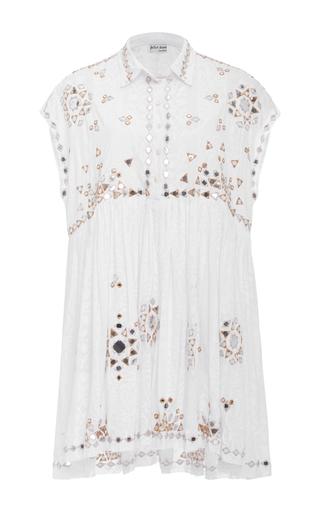 Medium juliet dunn white embroidered shirt dress
