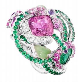 Secret Garden Pink Sapphire Ring by FABERGE for Preorder on Moda Operandi