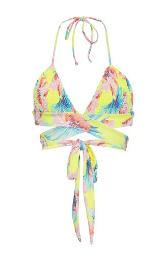 Medium tori praver floral myra wrap bikini top